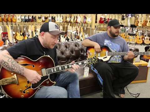 Josh Smith and Travis Carlton - 1962 Gibson L-5CES & Vox Violin Bass