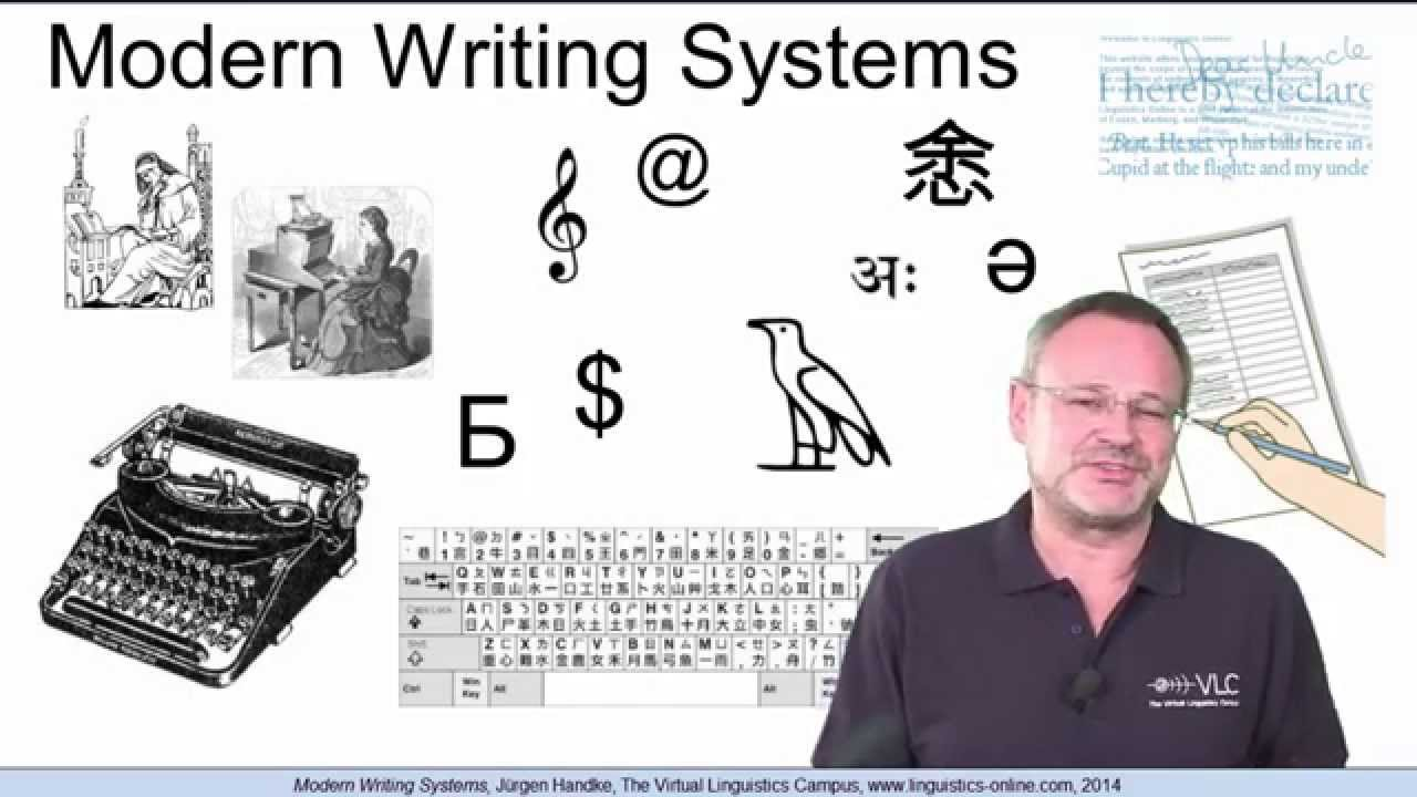 Modern writing systems