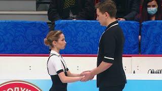 Дарья Павлюченко Денис Ходыкин Короткая программа Пары Чемпионат России 2021