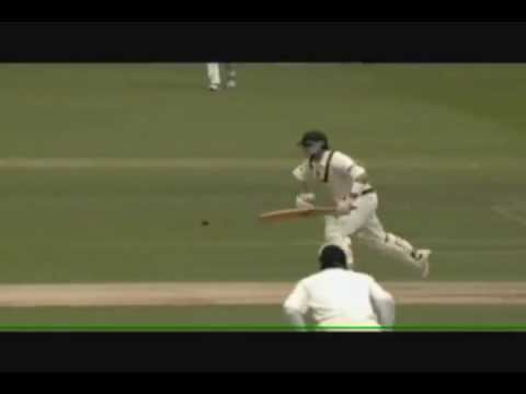 Ricky Ponting famous run out and good words to English balcony - Ashes 2005