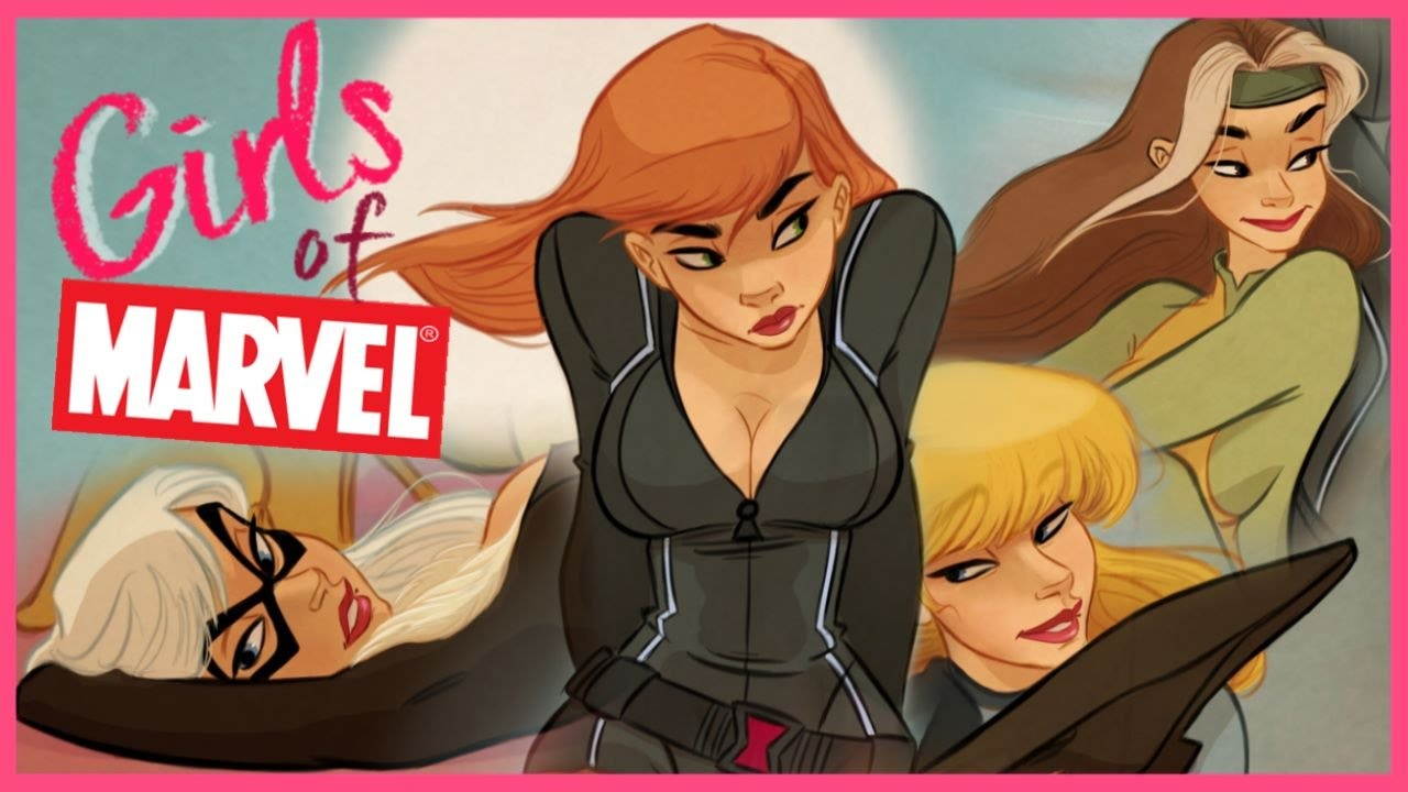 Drawing Girls Of Marvel Comics - Youtube-8371