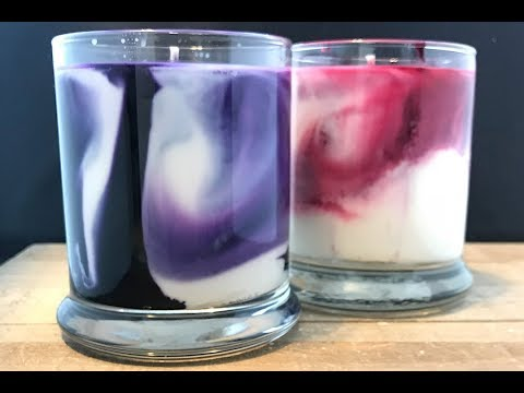 DIY Marble Candles