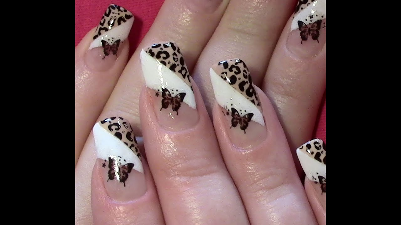Leo - Schmetterling Nageldesign selber machen / Nail Art Design ...
