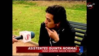 Cazanoticias registran excesos y peleas juveniles en el Parque Quinta Normal - CHV Noticias