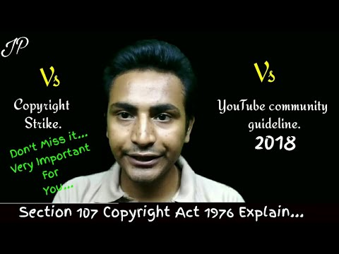 Section 107 Copyright Act 1976, Copyright Strike And Youtube Community Guideline?