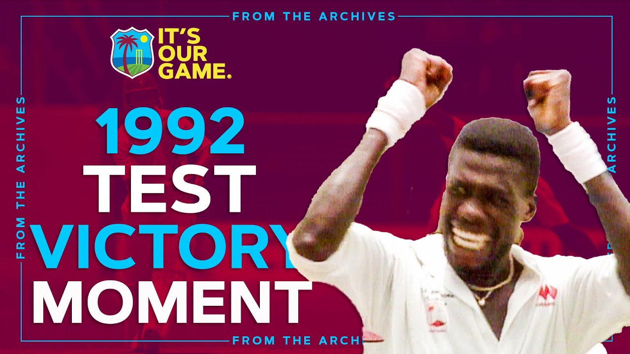 Download Curtly Ambrose Wraps Up Win + Crazy Victory Celebrations!   1992 Test v South Africa