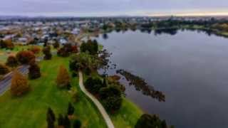 Timelapse from hot air balloon, Waikato New Zealand