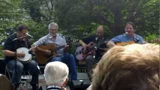 """Solid Gone"" (Cannonball Blues) ~ Kruger Brothers with Charles Welch @ Jones House (Doc Watson Day)"