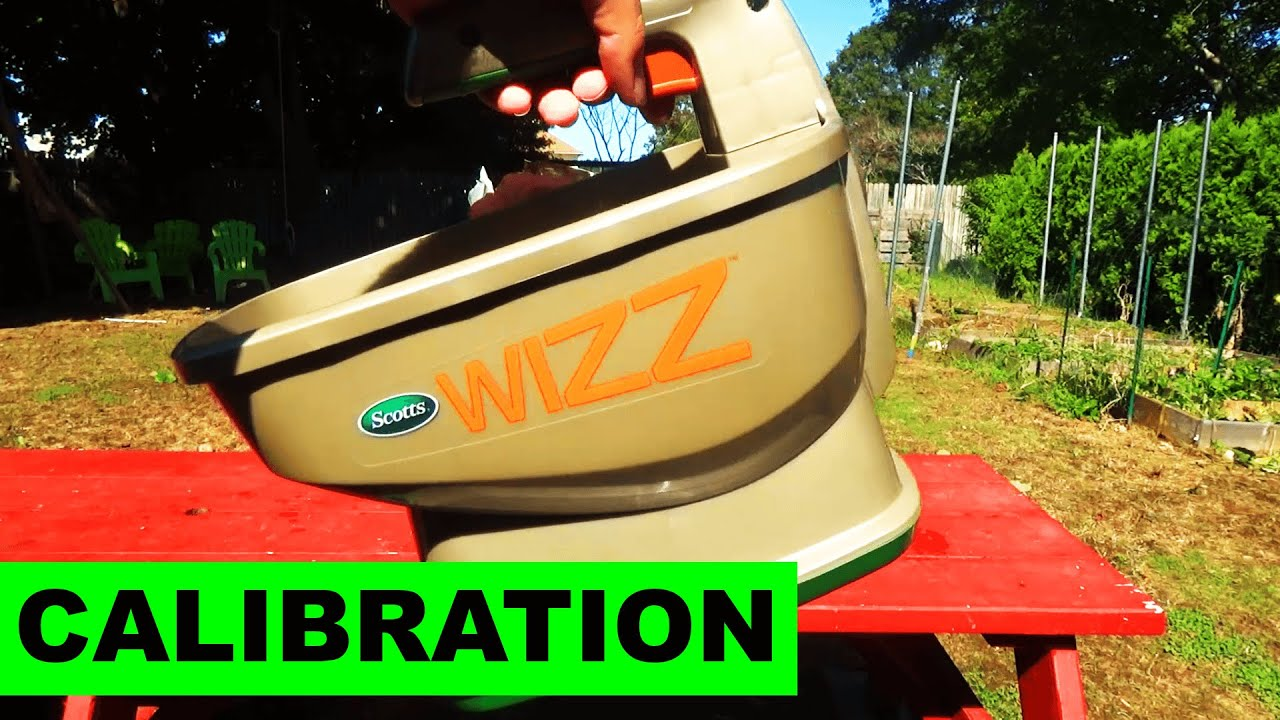 calibrating the wizz battery operated hand spreader