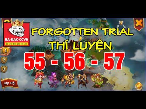 Castle Clash Forgotten Trial 55 56 57   Rank 1st AllSever   Chạy Thí Luyện Tầng 55 56 57