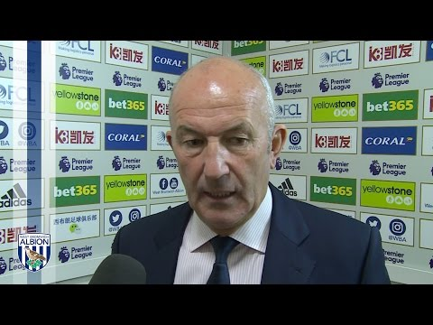 Tony Pulis reacts to Albion's 1-0 defeat by Southampton at The Hawthorns