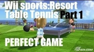 wii sports resort table tennis part 1 vs cole and hello kitty