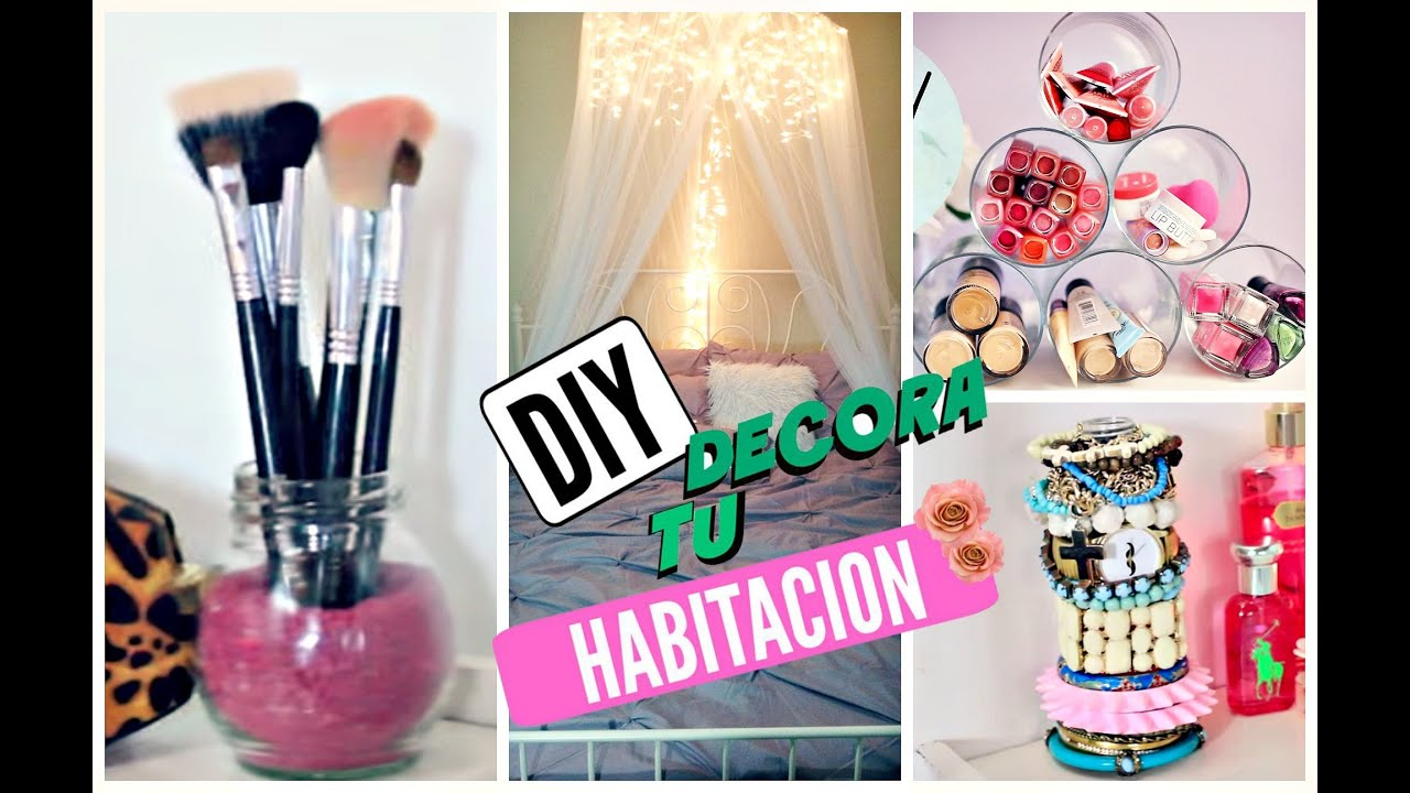 Diy decora tu habitaci n youtube for Como se decora una habitacion