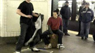 New York Tap Dancer on 4th W St. Subway Stop - 12/10/10