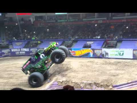 Monster jam Hidalgo,Tx Grave digger freestyle