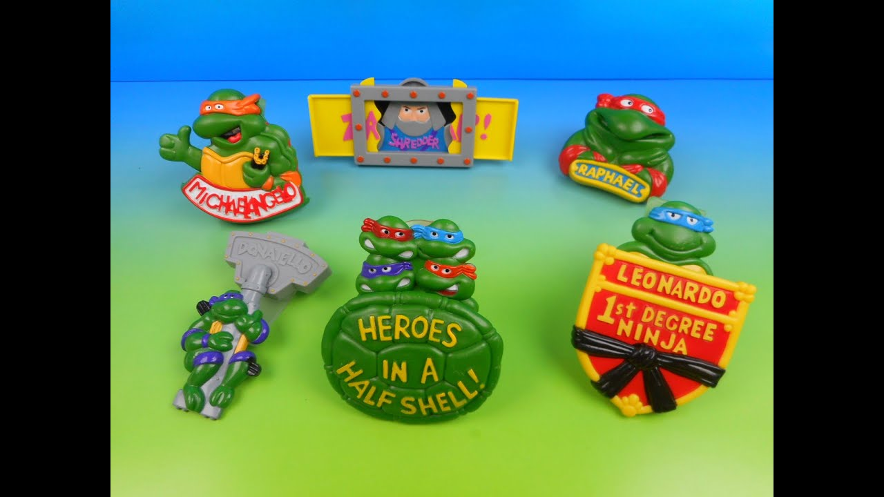 1989 Teenage Mutant Ninja Turtles Rad Badges Set Of 6