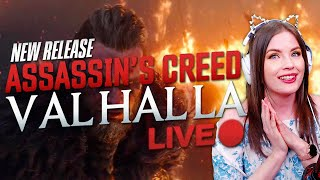 Assassin's Creed Valhalla - LIVE - Starting the new AC adventure w/ COSPLAY!