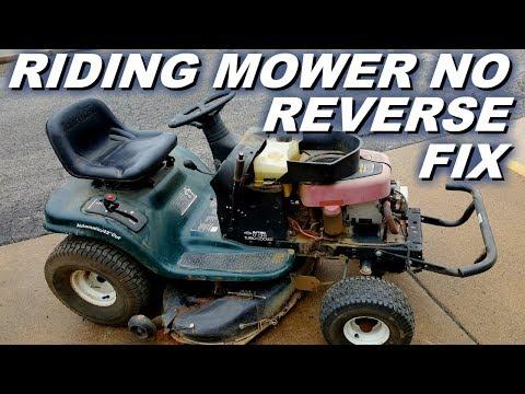 Riding mower no reverse problem  - YouTube