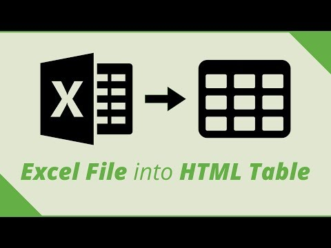 Excel To HTML Table - Converting A Large Spreadsheet File Into HTML Table
