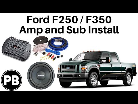 2008 - 2012 Ford F250 / F350 Amplifier and Subwoofer Install F Sel Wiring Diagram Radio Amp on