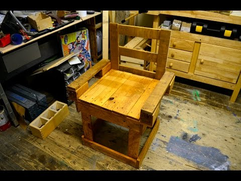 Woodworking Projekt   Stuhl Mit Rückenlehne Bauen