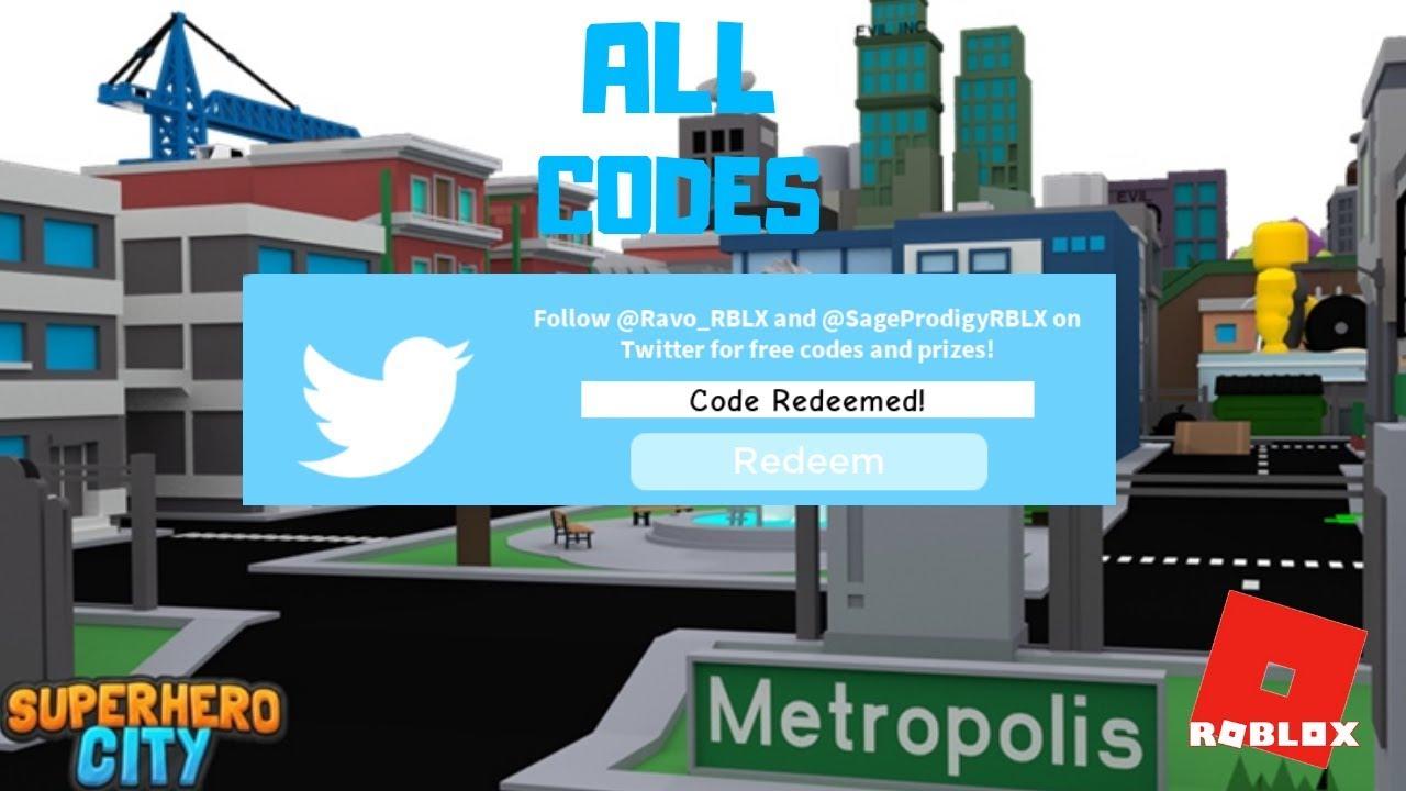 All Codes In Superhero City Youtube