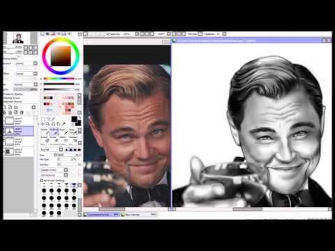 Portrait Leonardo DiCaprio Speedpaint