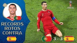 Todos los récords que Ronaldo rompió contra España | Rusia 2018