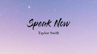 Speak Now - Taylor Swift (Lyrics Video)