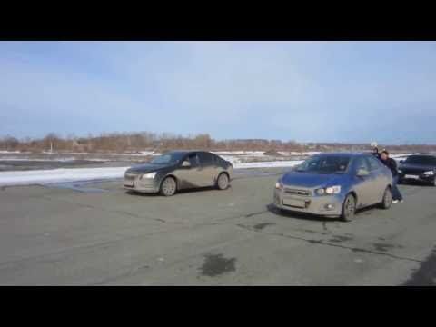 Драг Chevrolet Cruze 109 л.с VS AVEO 13 АПРЕЛЯ БАХАРЕВКА. Пермь