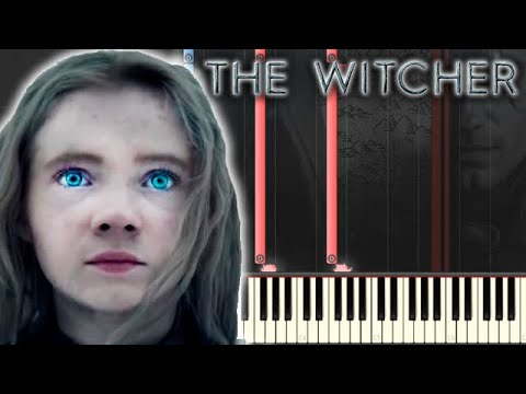 🎵 LINKED BY DESTINY (Geralt And Ciri Main Theme Song) - THE WITCHER [Piano Tutorial]