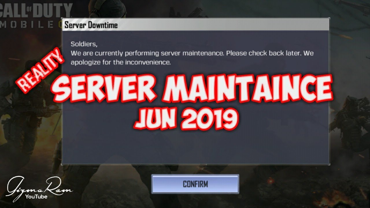 CALL OF DUTY MOBILE maintaince break June 2019