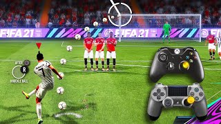 FIFA 21 - ALL FREE KICKS TUTORIAL | TRIVELA, KNUCKLEBALL,POWER, RABONA!