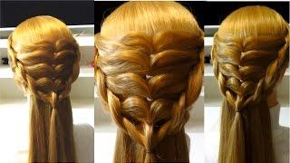 Прическа в школу на длинные и средние волосы
