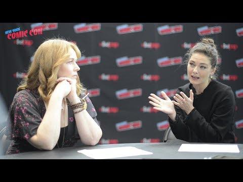 MAN IN THE HIGH CASTLE: Alexa Davalos & Chelah Horsdal  at New York Comic Con on Season 3