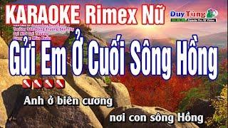 karaoke || LK Gửi Em Ở Cuối Sông Hồng - Rimex || Nhạc Sống Duy Tùng