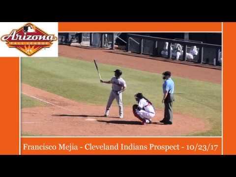 Francisco Mejia - Cleveland Indians Prospect - In Action AFL