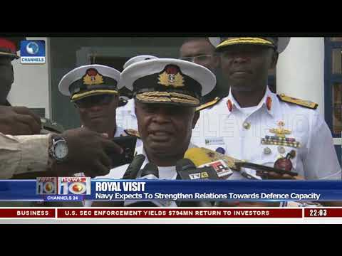 Naval Chief Receives prince Charles In Naval Dockyard In Lag