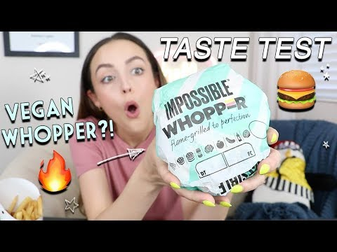 TASTING BK'S IMPOSSIBLE WHOPPER | Eat With Me!!!! Random Rambles