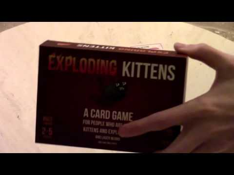 Exploding Kittens Card Game and More Grass Jelly with my Grandma