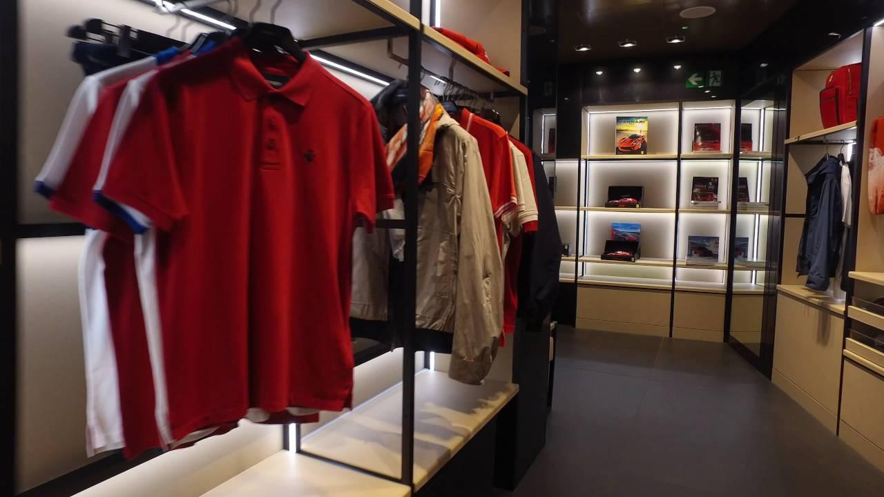 Inside The Milan Ferrari Store - YouTube 019d53628