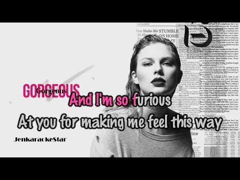Taylor Swift - Gorgeous [Karaoke/Instrumental]