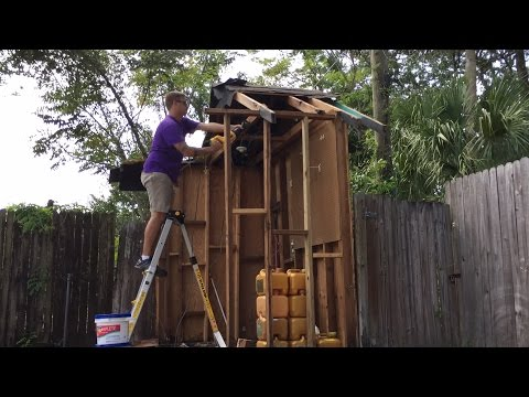 Man vs. Wooden Shed: A DIY Fail!
