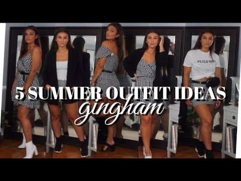 [VIDEO] - SUMMER OUTFIT IDEAS | Gingham | MELINDA BROOKE 8