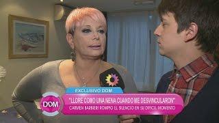 """Carmen Barbieri habló de su renuncia al Bailando: """"Me sentí abandonada"""""""