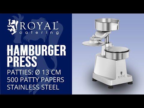 Hamburger Press - 13 cm RCHM-130B | Royal Catering