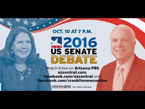 Live: Arizona Senate Debate between John McCain and Anne Kir