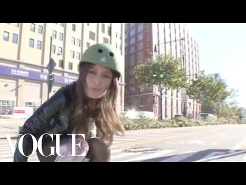 Model Challenge: Nicole Trunfio vs. Bike Messenger