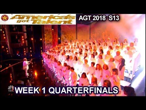 """Angel City Chorale sings """"This Is Me"""" AMAZING Quarterfinals 1 America's Got Talent 2018 AGT"""