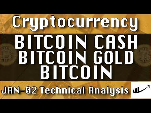 Jan-02 BITCOIN CASH : BITCOIN GOLD : BITCOIN Update CryptoCurrency Technical Analysis Chart